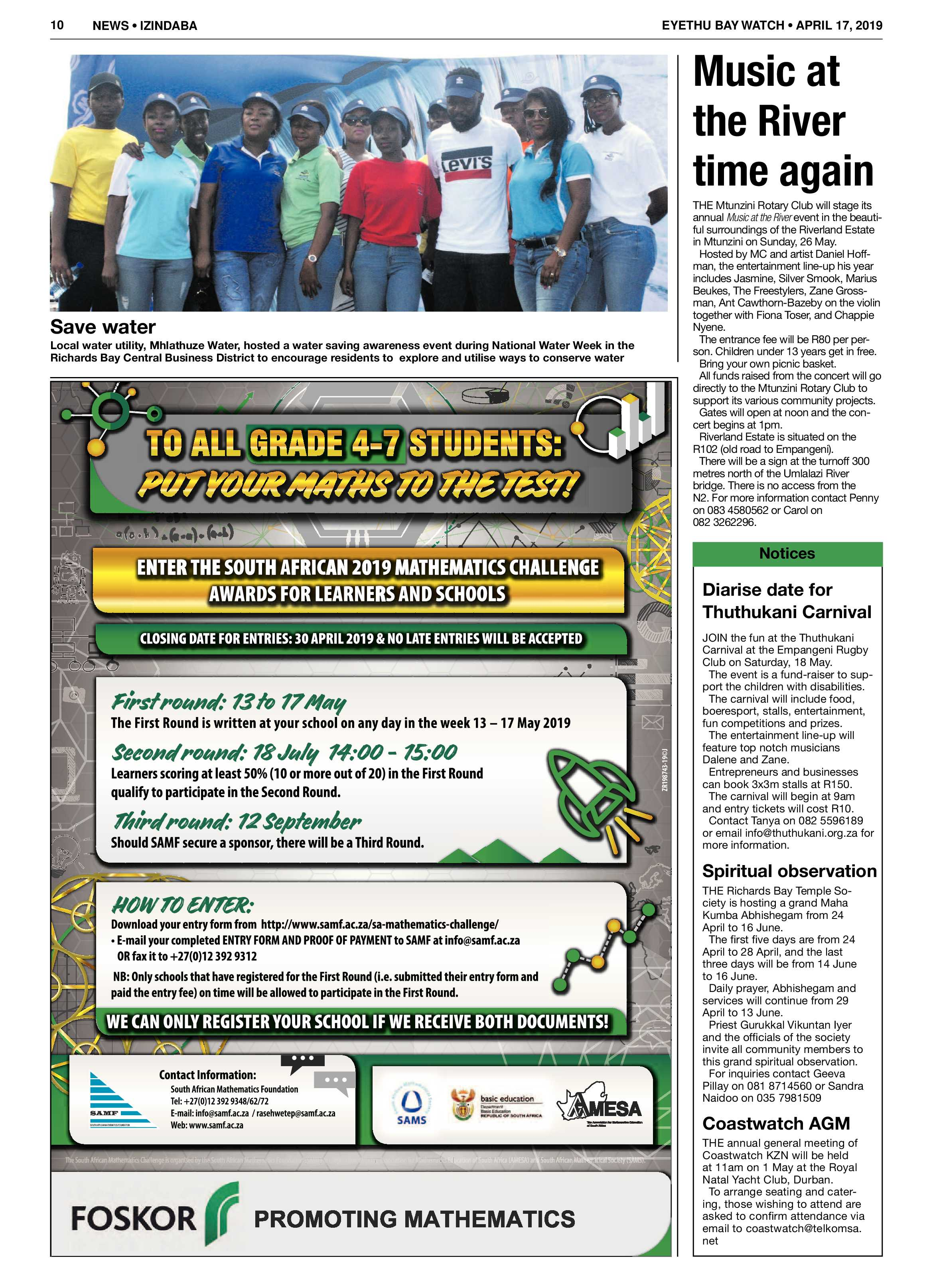 Eyethu Baywatch 17 April | Zululand Observer